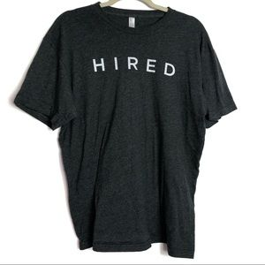 American Apparel The 5050 Heathered Shirt 'HIRED'